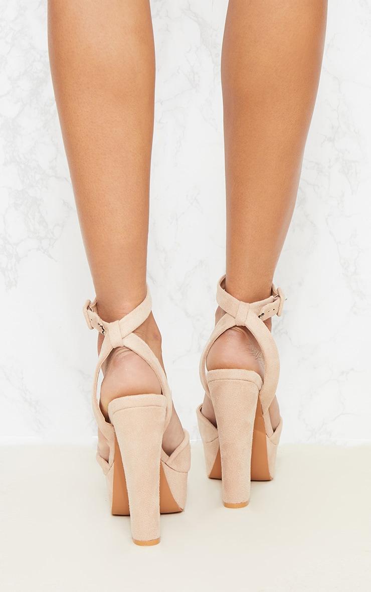 Nude Platform Sandal 4
