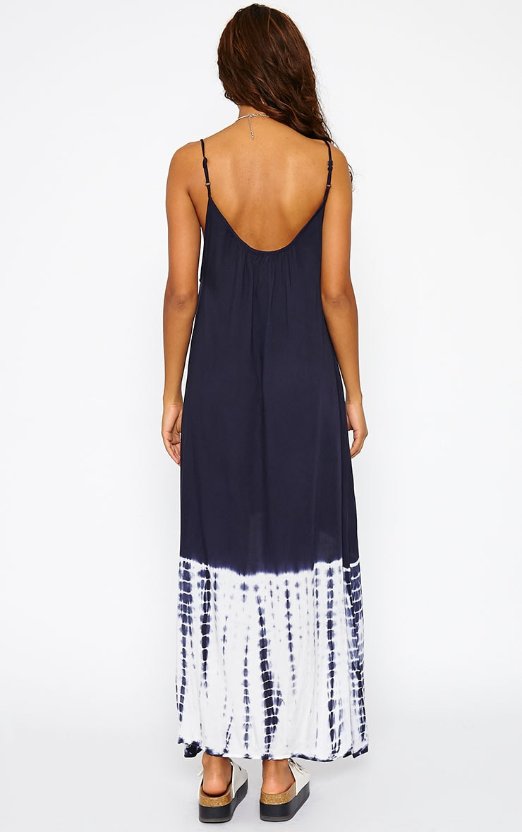 Janae Blue Tie Dye Hem Maxi Dress 2