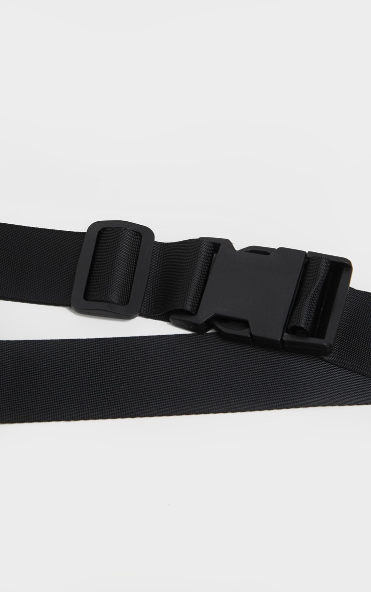 Black Buckle Double Tape Belt 3