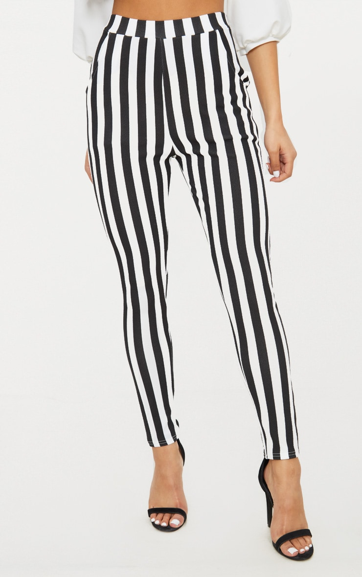 Black Stripe Skinny Trouser 2