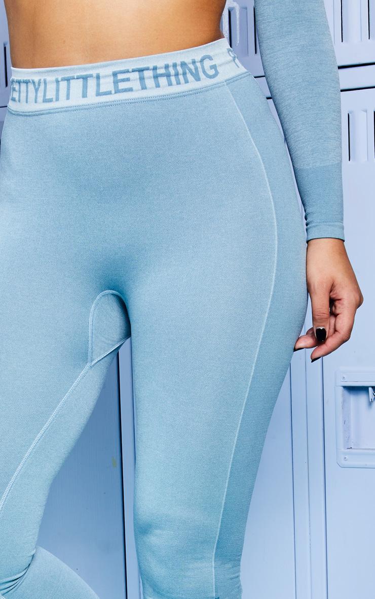 PRETTYLITTLETHING Ice Blue Seamless Gym Legging 5
