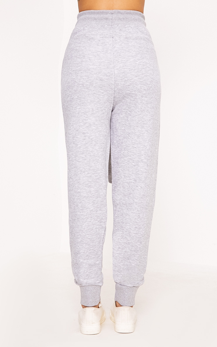 Lucee Grey Tie Front Joggers 4