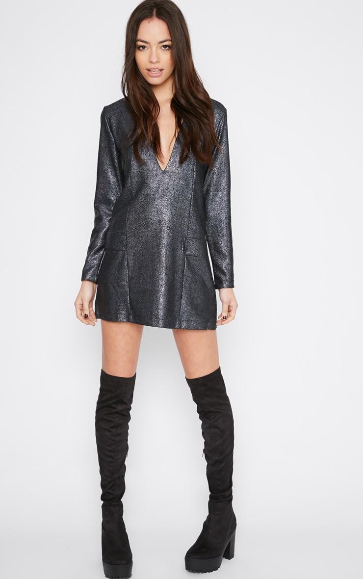 Jemima Black Iridescent Blazer Dress 3