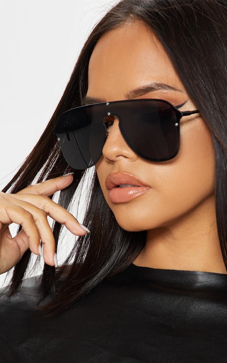 Black Oversized Aviator Sunglasses 1