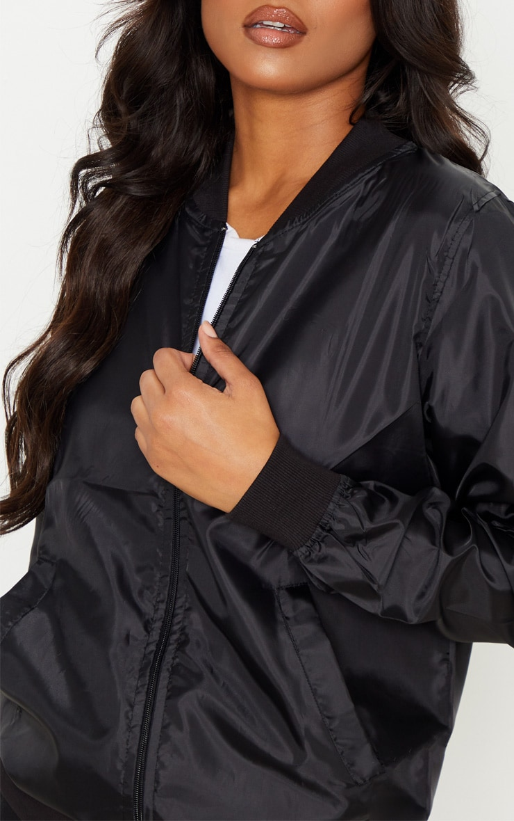 Black Lightweight Bomber Jacket 5