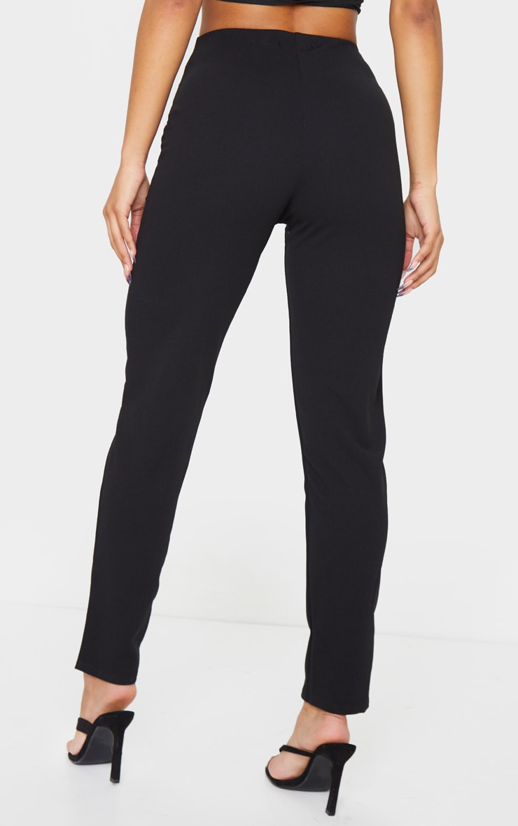 Black Slim Leg Crepe Trousers 3