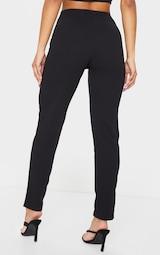 Black Slim Leg Crepe Pants 3