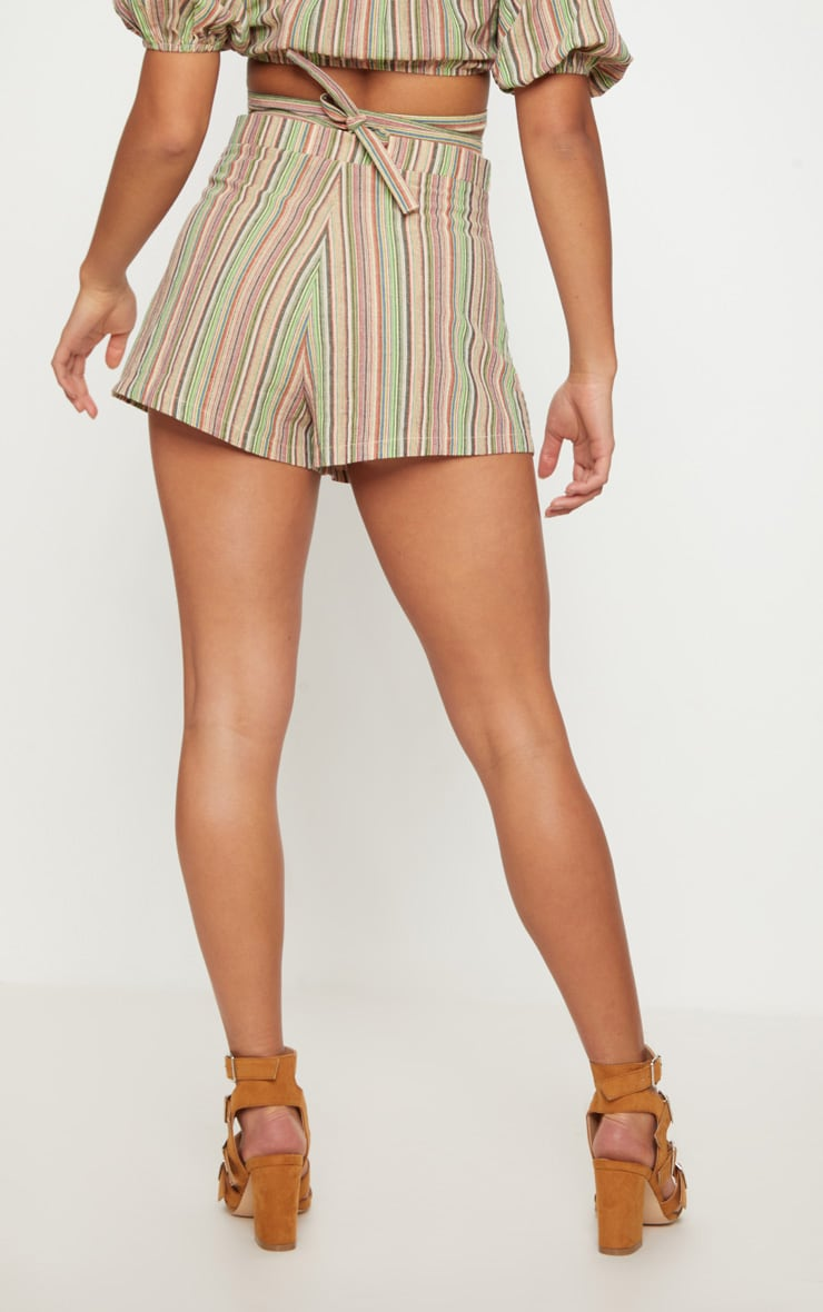 Petite line Striped Shorts 4