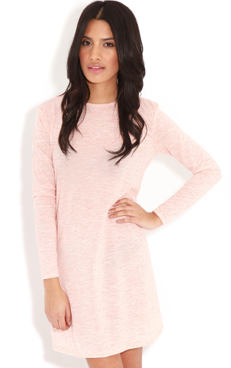 Callie Peach Long Sleeve Swing Dress 4