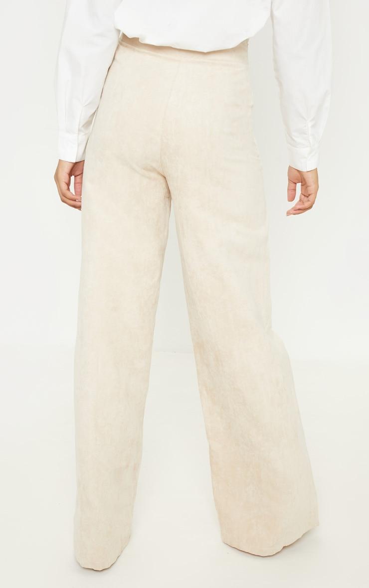Tall - Pantalon en suédine gris pierre à jambes évasées 4