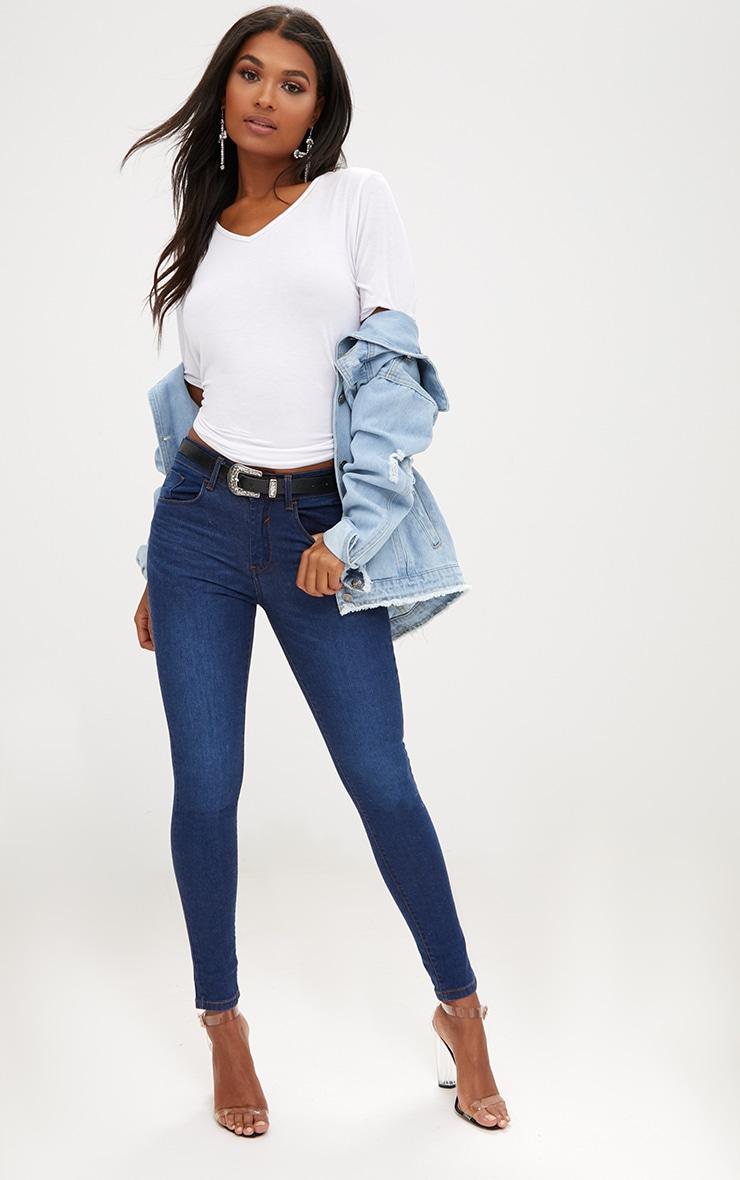 Dark Wash Skinny Jeans 1
