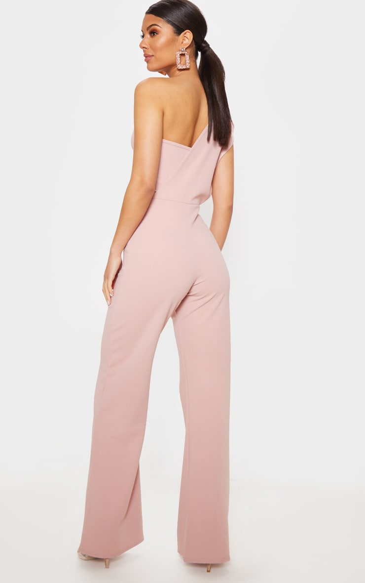 Rose Drape One Shoulder Jumpsuit 2