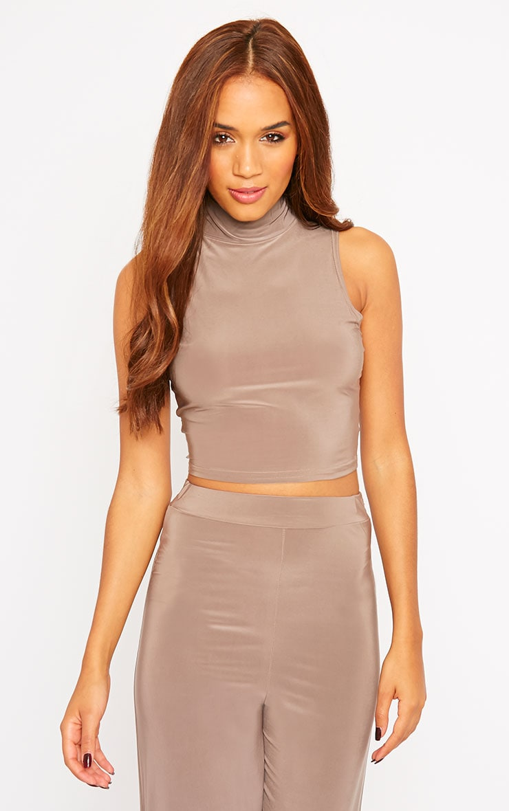 Remi Mocha Soft Touch Crop Top 4