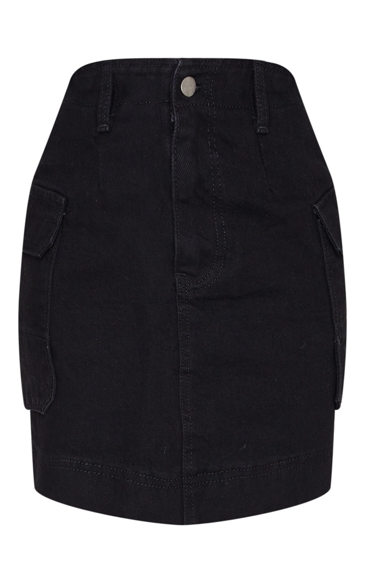 Petite Black Cargo Skirt 3