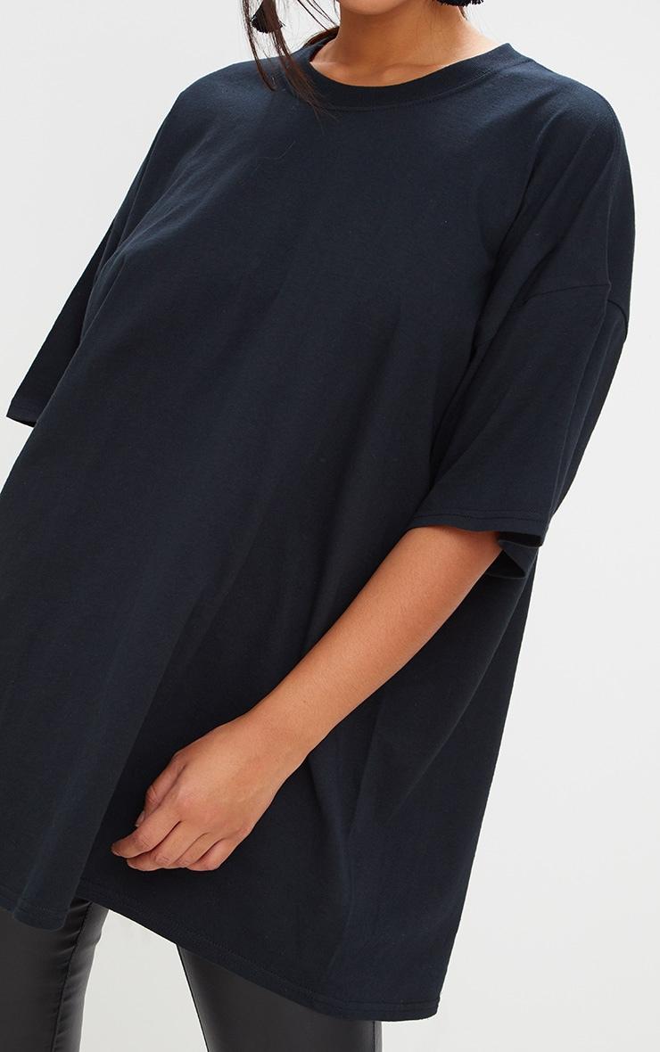Black Oversized Boyfriend T Shirt  5