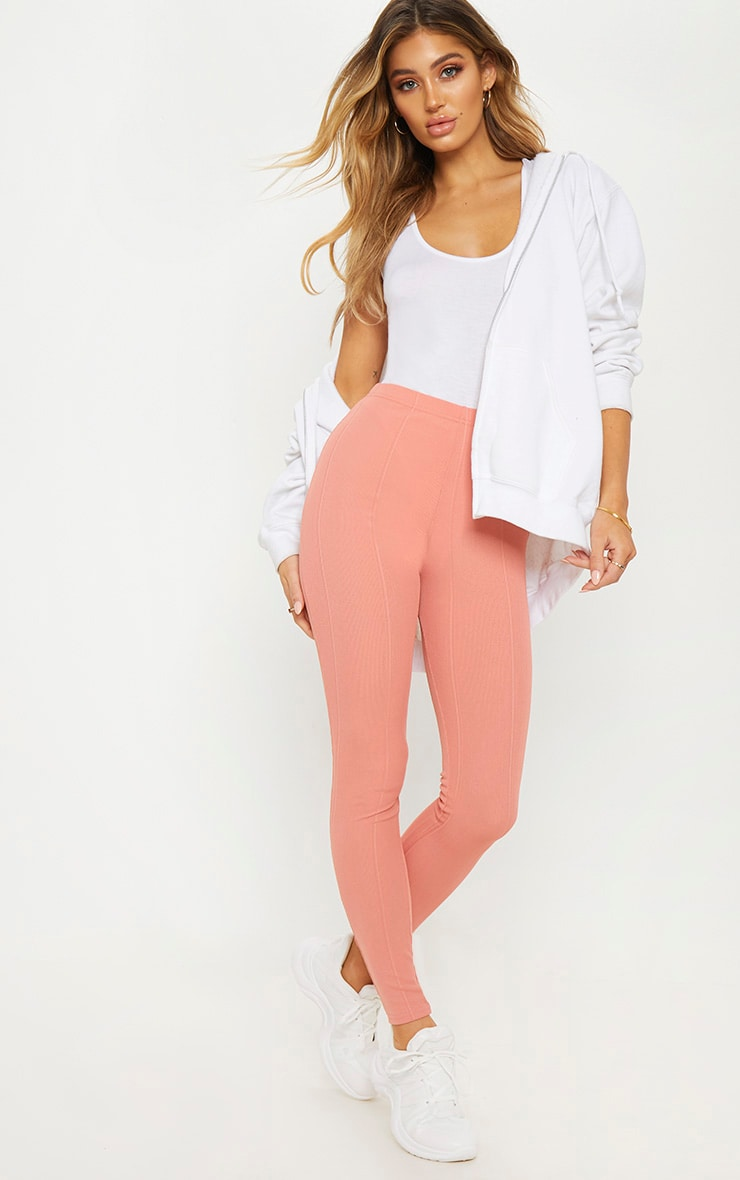 Rose High Waisted Bandage Leggings 1
