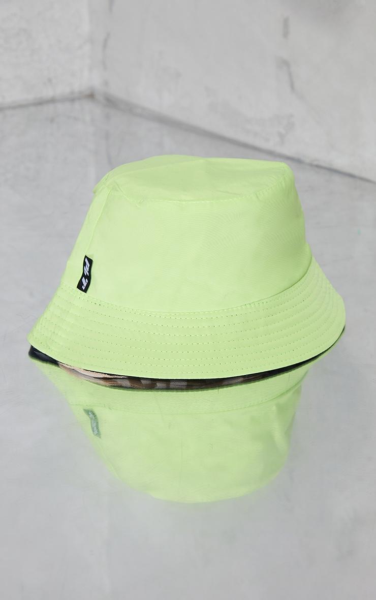 PRETTLITTLETHING Side Tab Lime Bucket Hat 3