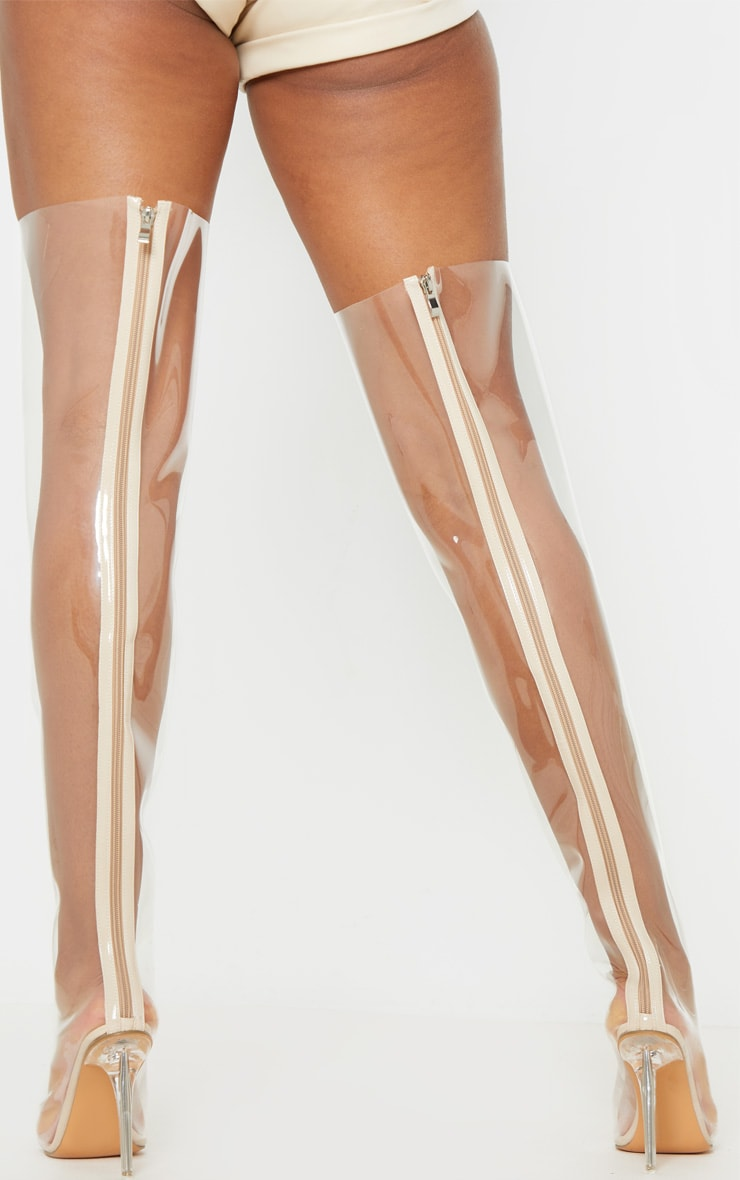 Clear Thigh High Boot 2