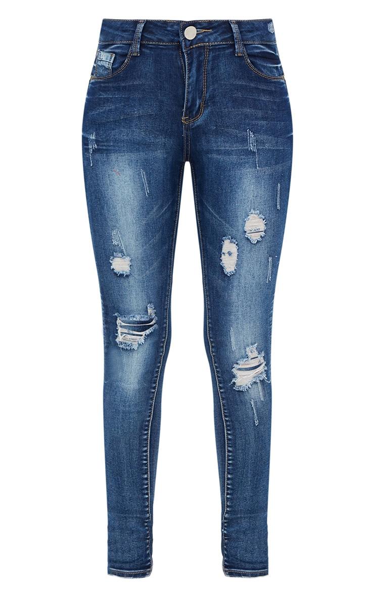 Vintage Wash Distressed Skinny Jeans 3