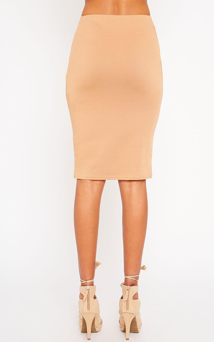 Klarisa Camel Midi Skirt 4