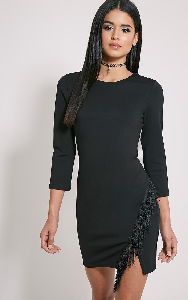 Anya Black Tassel Detail Dress 4