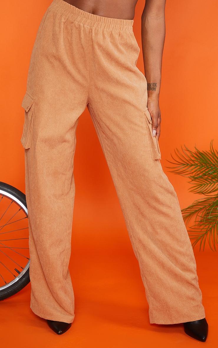 Sand Cord Cargo Wide Leg Pants 2