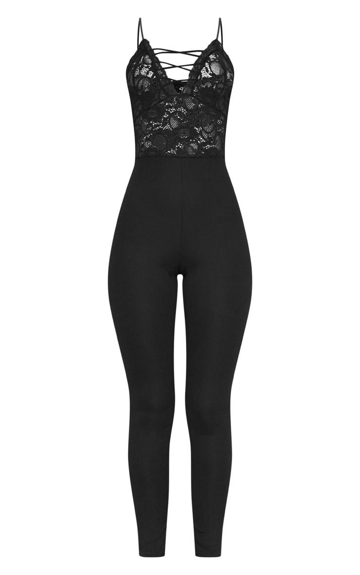 Black Lace Up Jumpsuit 3