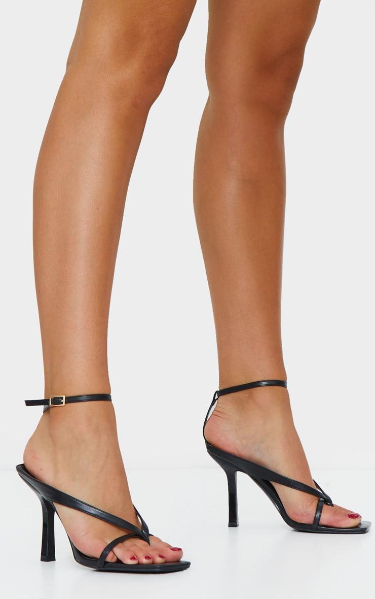 Black Toe Thong Strap Mules 2