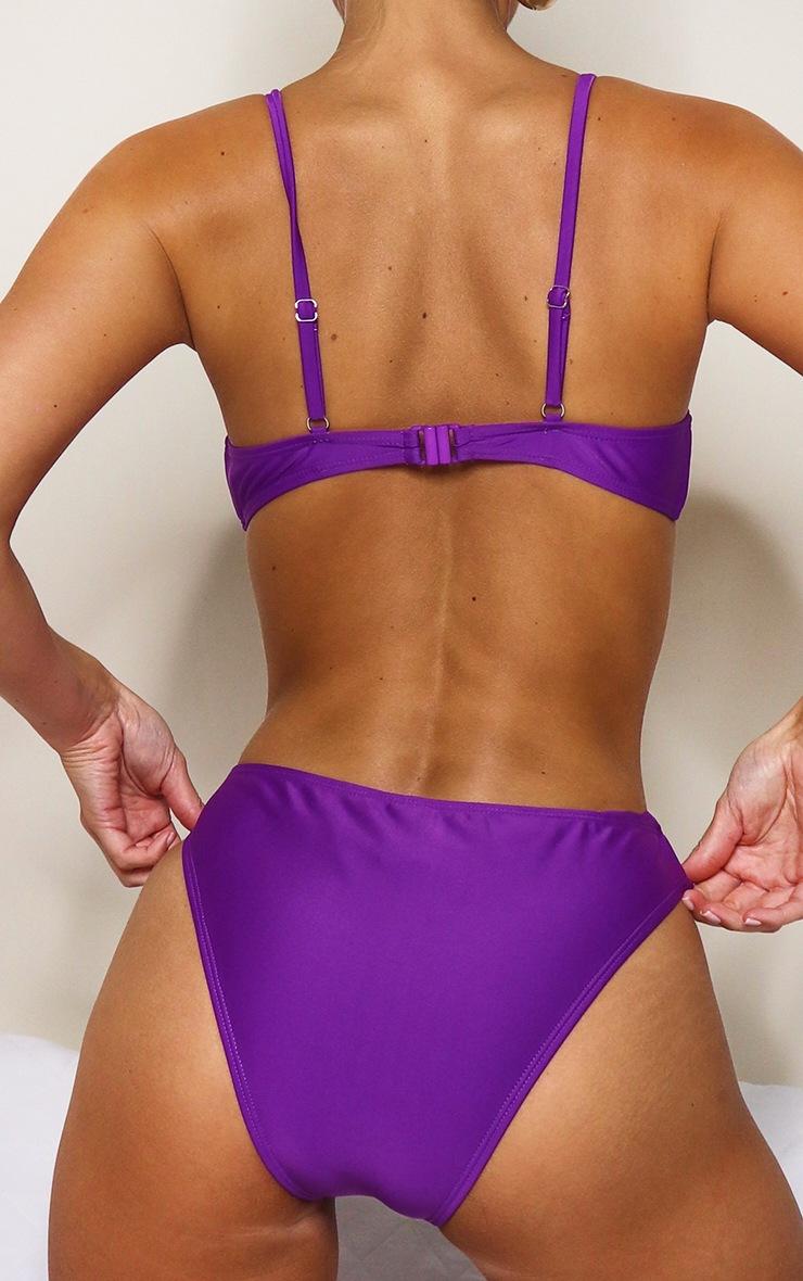 Purple Mix & Match Cheeky Bum Bikini Bottoms 4