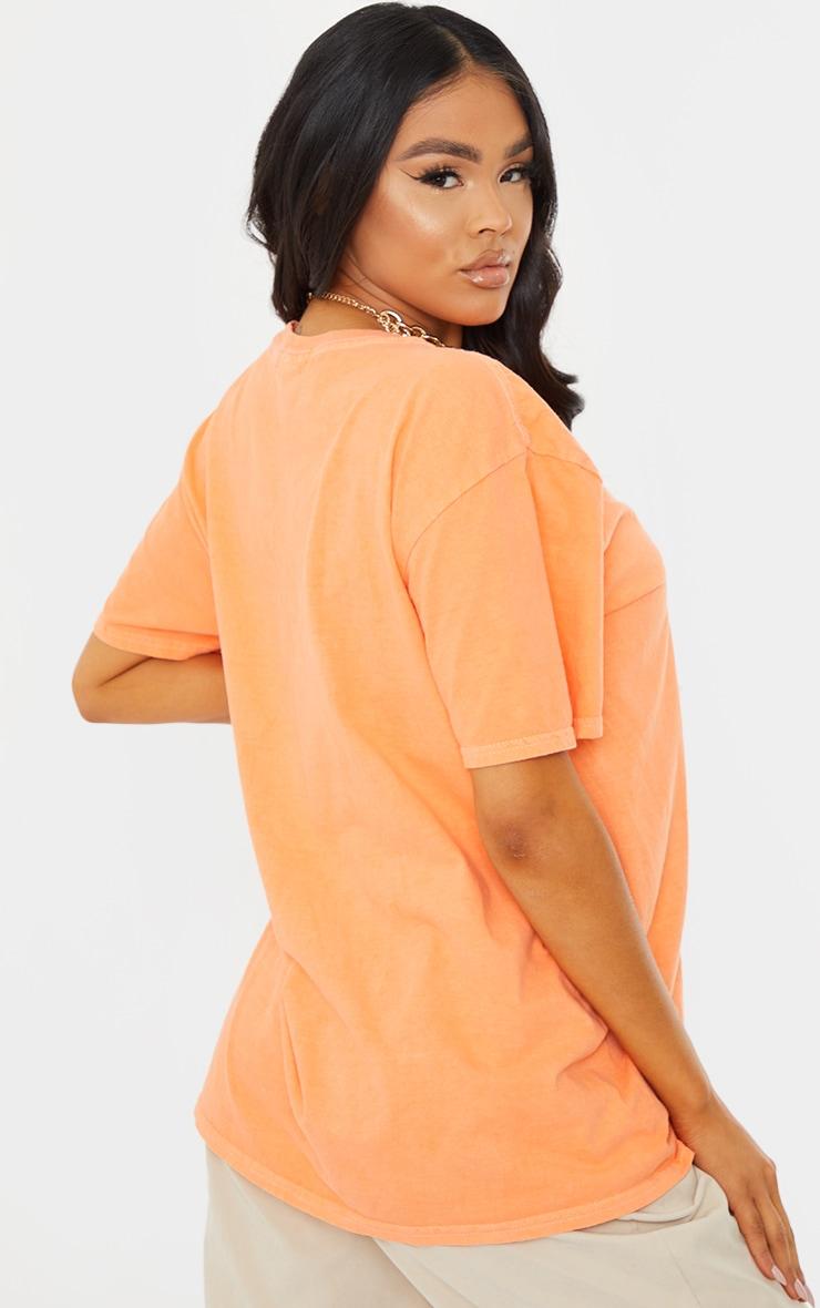 Tangerine Washed Oversized T Shirt 2