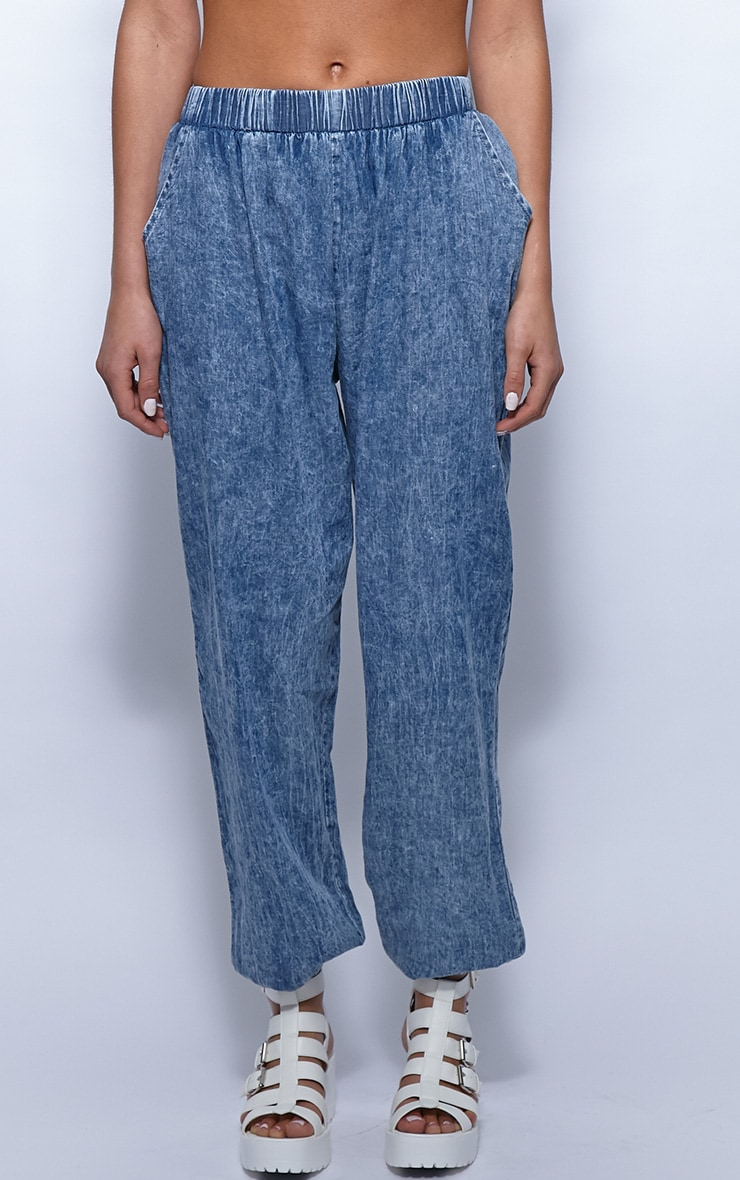 Rhonda Denim High Waist Harem Trousers 4