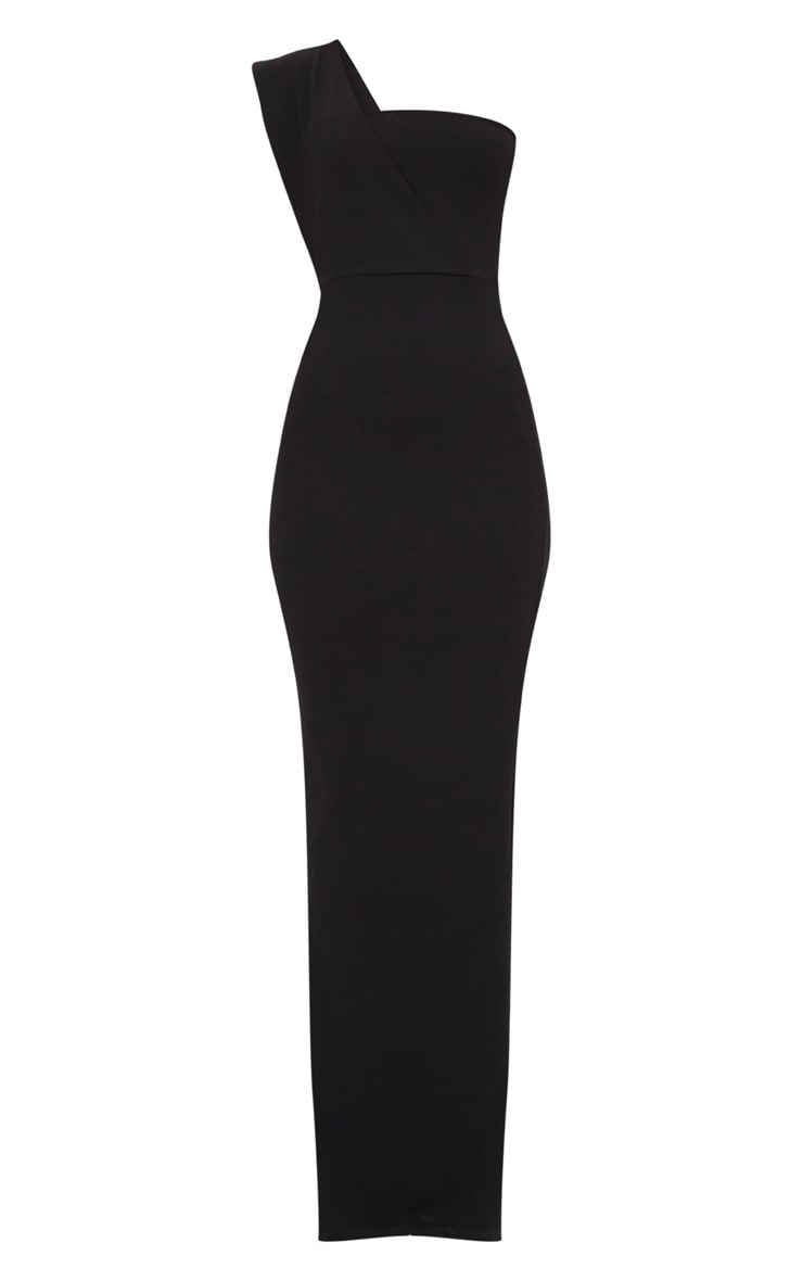 Black One Shoulder Maxi Dress 3