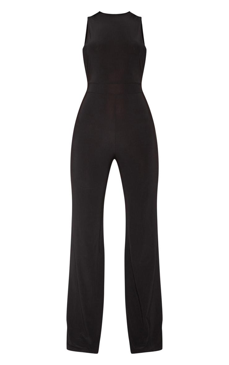 Black Slinky Side Boob Jumpsuit 3