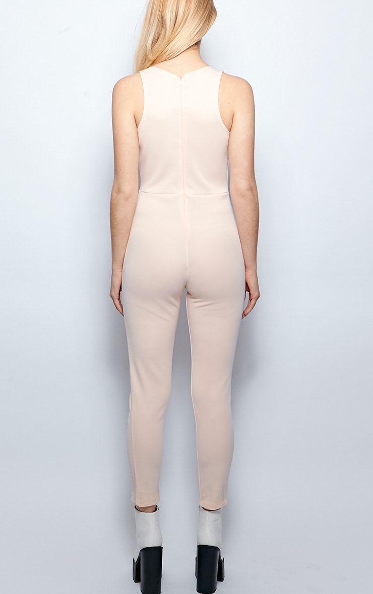 Stephanie Nude Cut Out Jumpsuit  2