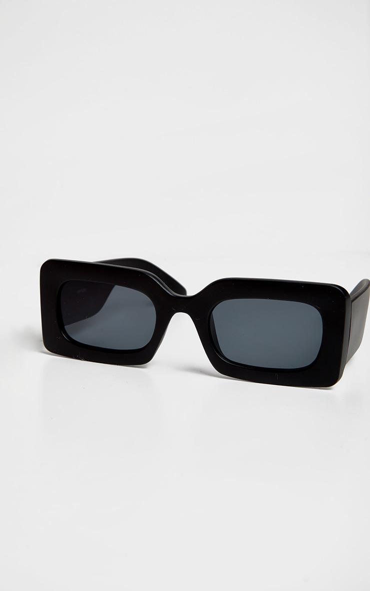 Black Oversized Square Frame Sunglasses 4