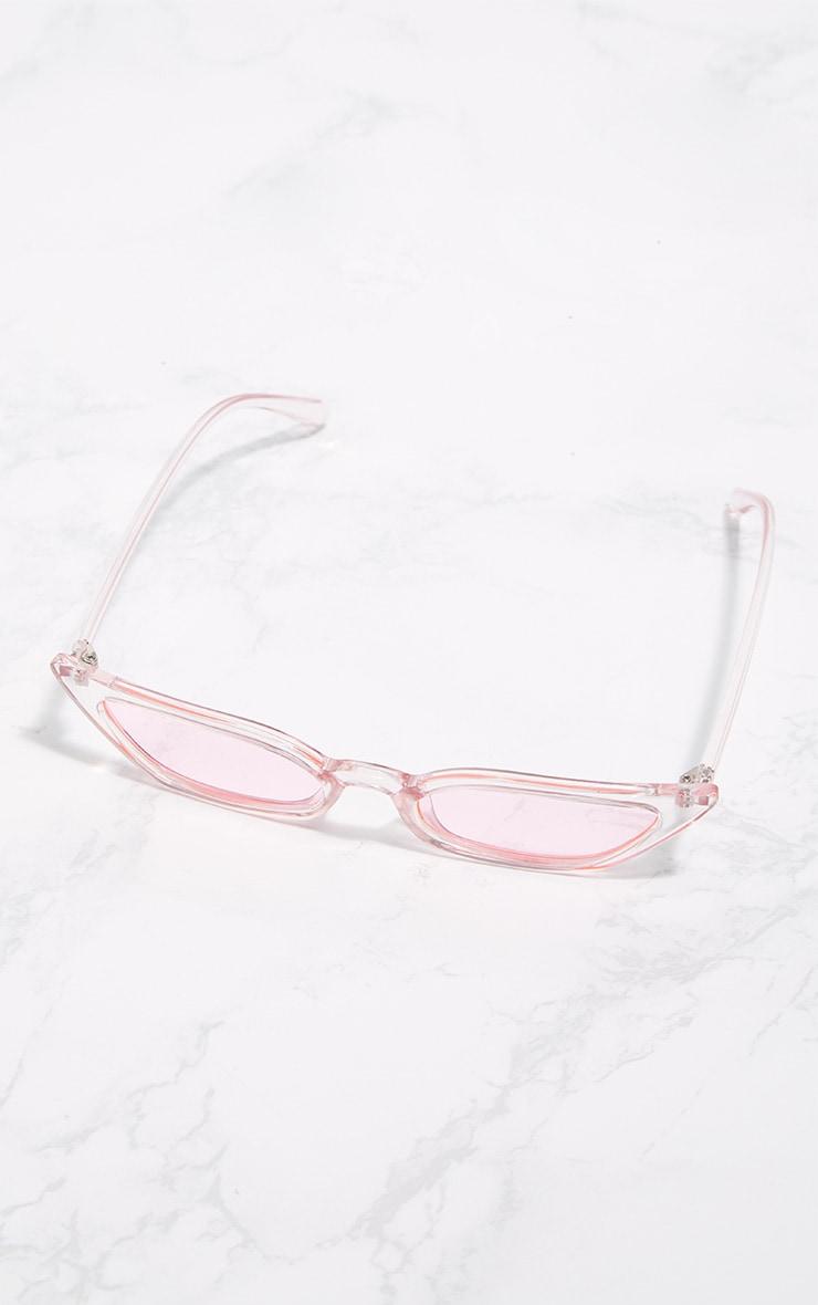 Pink Clear Cat Eye Sunglasses 3
