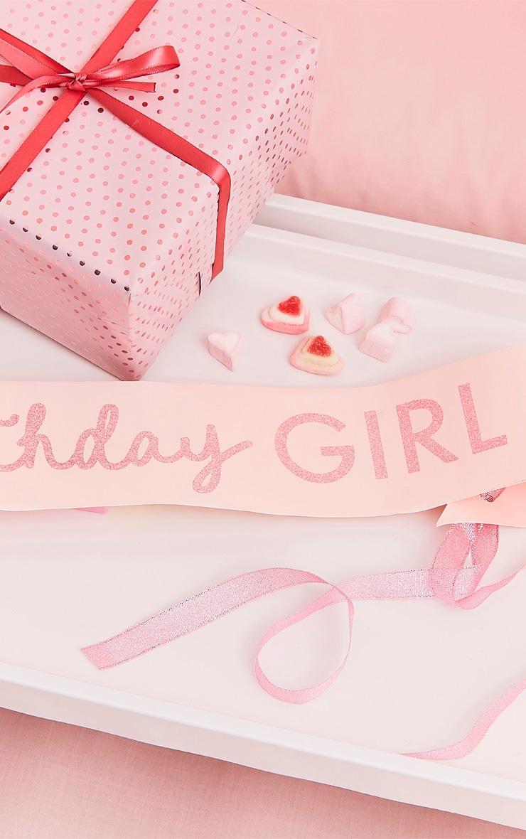 Ginger Ray - Echarpe Birthday Girl rose à paillettes 1