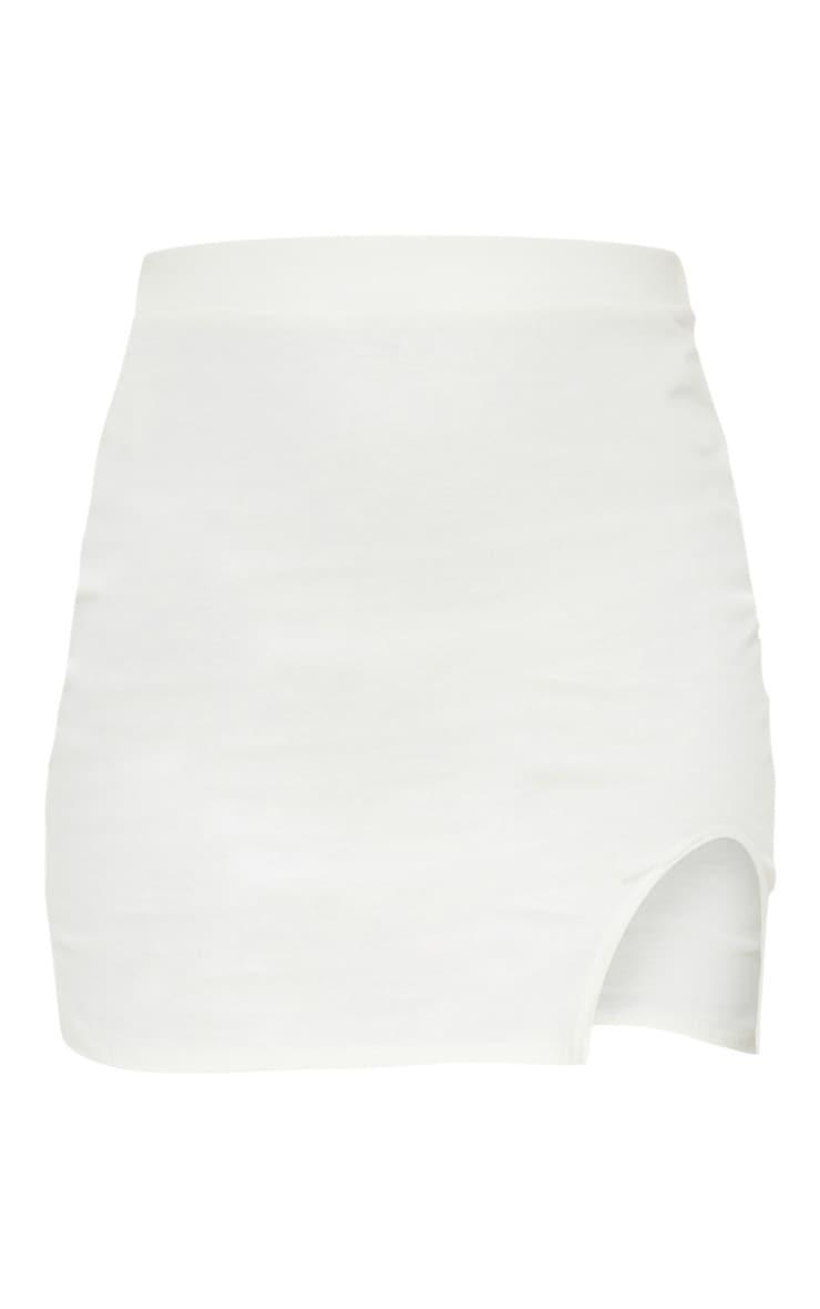 Petite Cream Cotton Jersey Mini Skirt 6