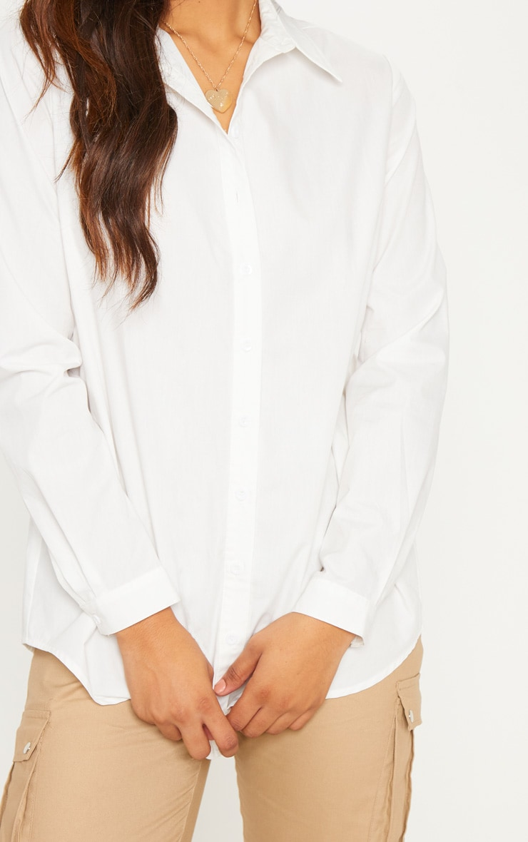 Tall White Woven Oversized Shirt 5