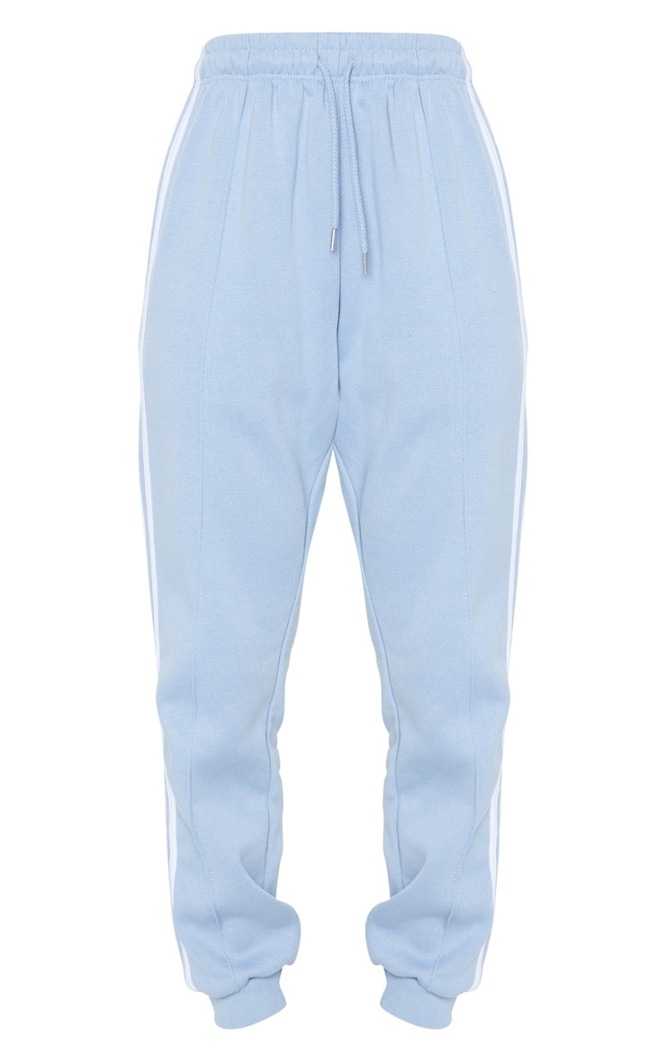 Blue Double Side Stripe Track Pants 3