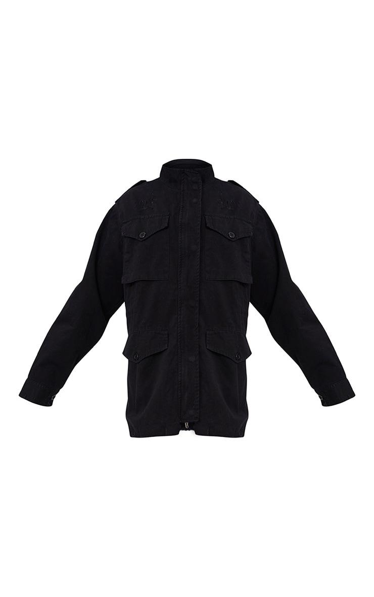 Aashia Black Distressed Utility Jacket 3