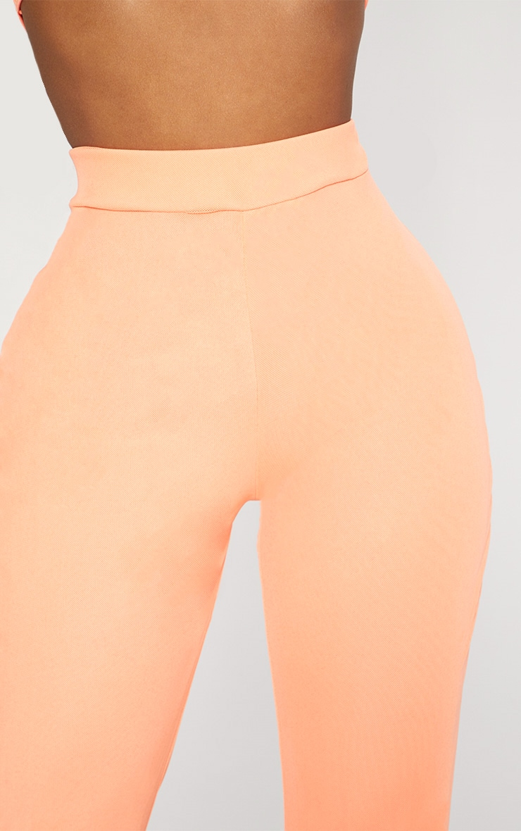 Shape Neon Coral Mesh Flared Trousers 3