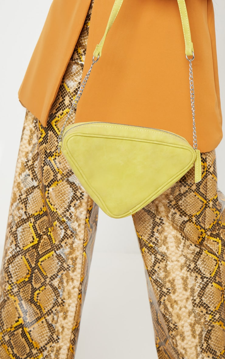 Lime Triangle Cross Body 2