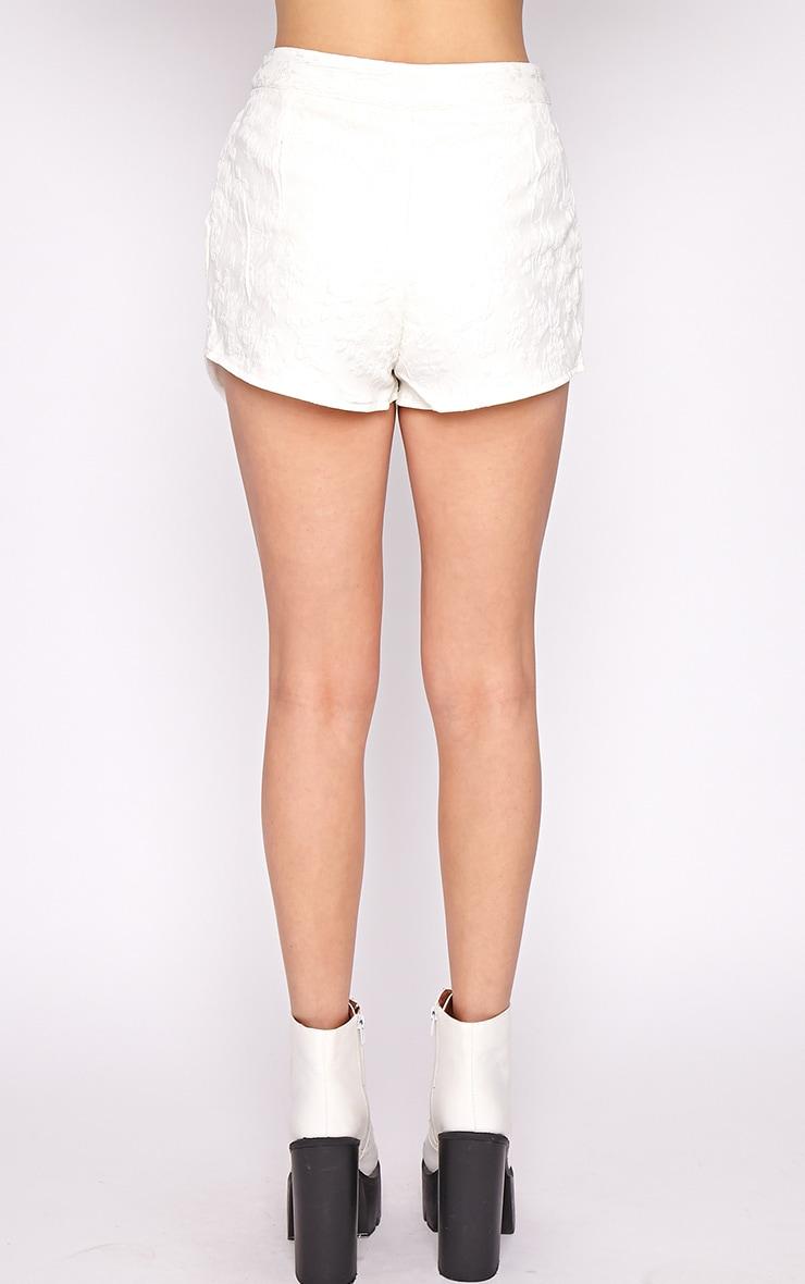 Tasha White Embroidered Skort  2