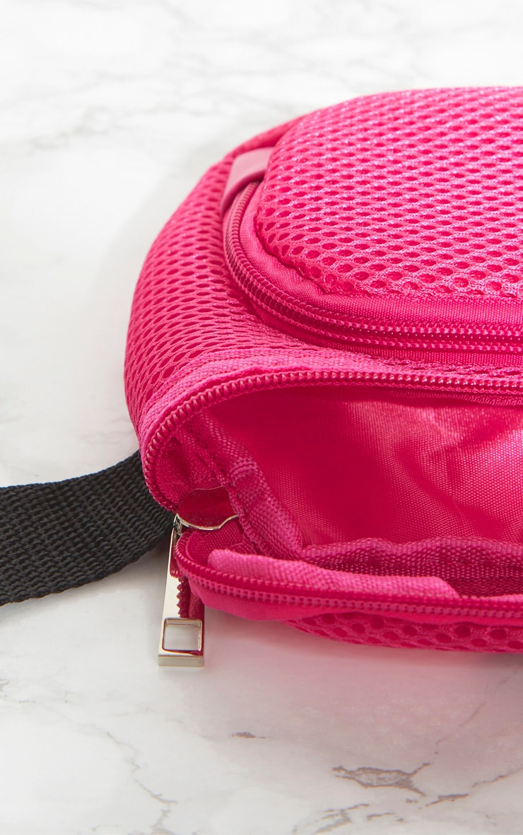 PRETTYLITTLETHING Pink Mesh Bum Bag 5