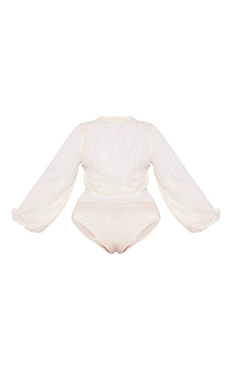 Plus Cream Milkmaid Frill Cup Bodysuit  6