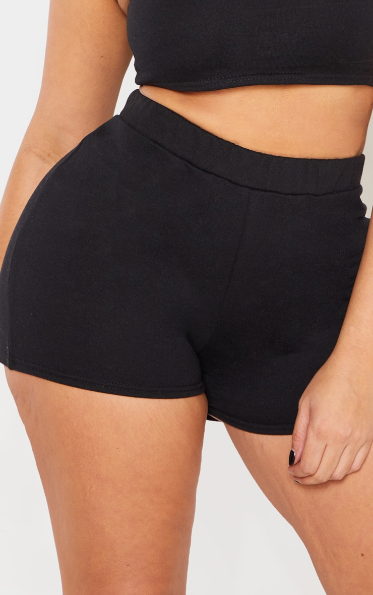 Shape Black High Waisted Sweat Shorts 6