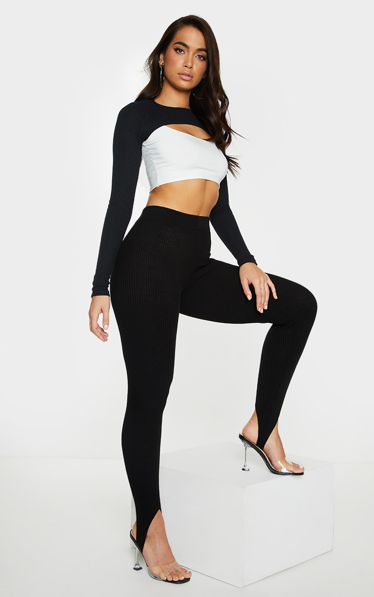 Black Rib Super Crop Top 3