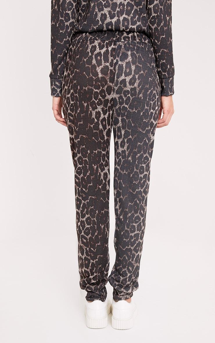 Sofiee Black Leopard Print Joggers 4
