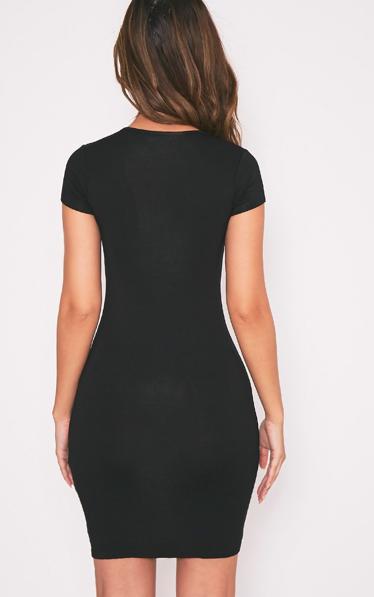 Robe jersey basique noire  2